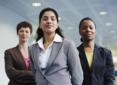 portrait of diverse business women